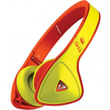 Наушники Monster DNA Neon On-Ear Headphones (Yellow on Neon Orange)