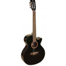 Классическая гитара со звукоснимателем Cort CEC5 BK