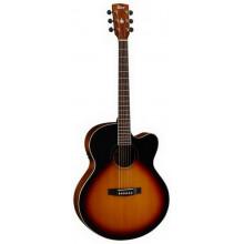 Электроакустическая гитара Cort CJ1F 3TS