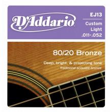 Струны для акустической гитары D'addario EJ13