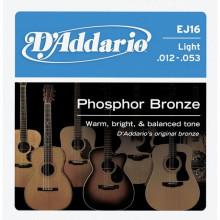 Струны для акустической гитары D'addario EJ16
