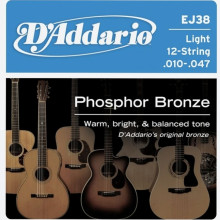 Струны для акустической гитары D'addario EJ38