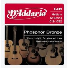 Струны для акустической гитары D'addario EJ39