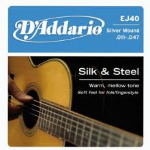 Струны для акустической гитары D'addario EJ40