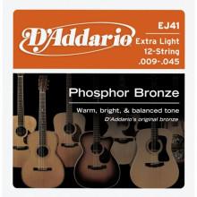 Струны для акустической гитары D'addario EJ41