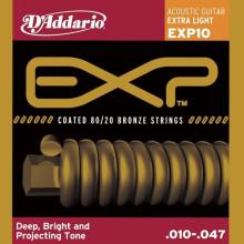Струны для акустической гитары D'addario EXP10