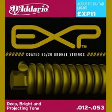 Струны для акустической гитары D'addario EXP11