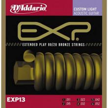 Струны для акустической гитары D'addario EXP13