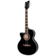 Левосторонняя электроакустическая гитара ESP AC10E LH BLK