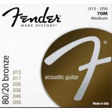 Струны для акустической гитары Fender 70M