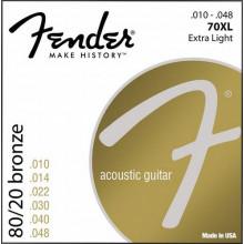 Струны для акустической гитары Fender 70XL
