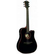 Электроакустическая гитара Lag Tramontane T-100DCE BLK