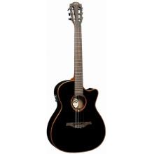 Классическая гитара с пьезозвукоснимателем Lag Tramontane TN-100A14CE BLK