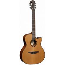 Классическая гитара с пьезозвукоснимателем Lag Tramontane TN-200A14CE