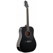Электроакустическая гитара Stagg SW201-VT BK