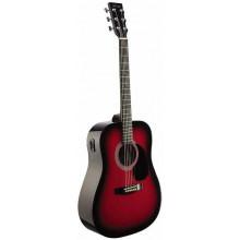 Электроакустическая гитара Stagg SW201-VT RDS