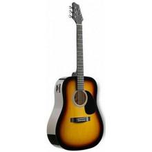 Электроакустическая гитара Stagg SW201-VT SB