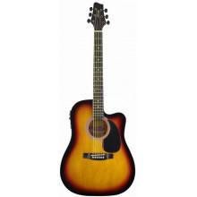 Электроакустическая гитара Stagg SW203CETU SB
