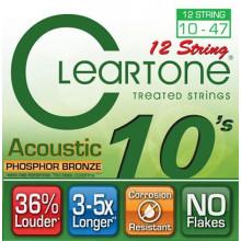 Струны для акустической гитары Cleartone 7410-12