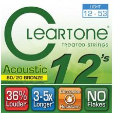 Струны для акустической гитары Cleartone 7612