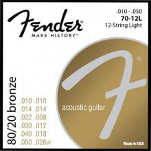 Струны для 12-струнной гитары Fender 70-12L