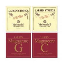 Струны для виолончели Larsen Soloist (A,C) + Magnacore (G,D) SC334901-02